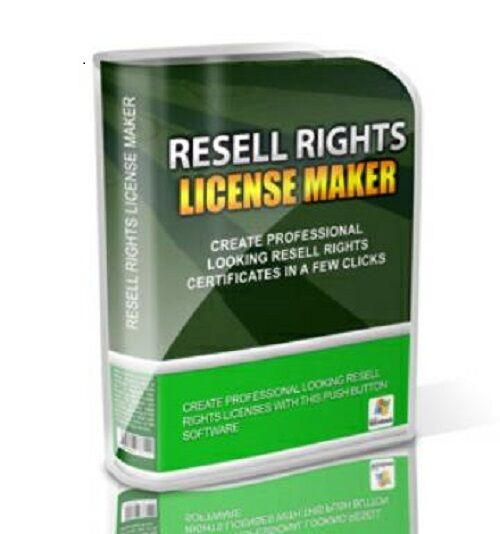 Resell Rights License Maker Software PLUS  Over 10744 PLR Articles w / RR !