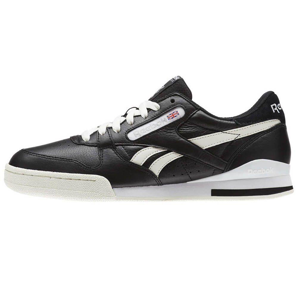 CM9292, Reebok Schuhe – Phase 1 Pro Dl schwarz/grau/weiß, Herren, 2018, Leder