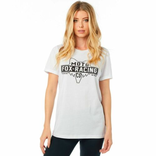 Fox Racing Lowdown Boyfriend Womens Short Sleeve T-Shirt White