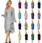 Best Lace Formal Evening Mother of the Bride Dress & free Chiffon Jacket Sz 6-20