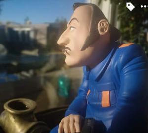 COLUCHE-caricature-statuette-figurine-SAINT-EMETT-collector