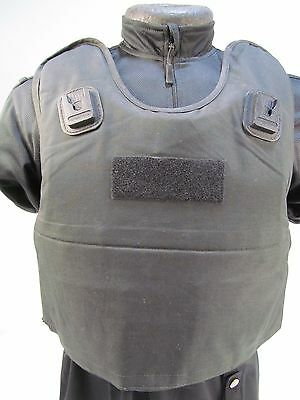 X Police NIJ L3a Bullet Stab & Spike Proof Kevlar Body Armor Vest XL/SHORT VV9