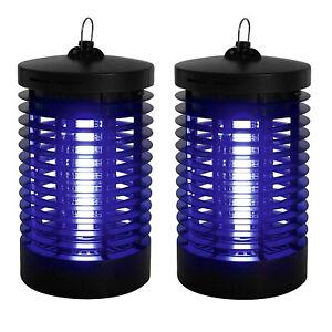 2x-Insektenfalle-UV-Mueckenlampe-Insektenvernichter-Elektrisch-Fliegenfaenger