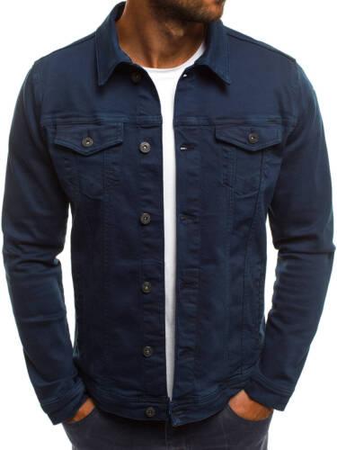 OZONEE Messieurs Transition Veste Jeans Veste en jean Clubwear Vintage ot//2021 Mix