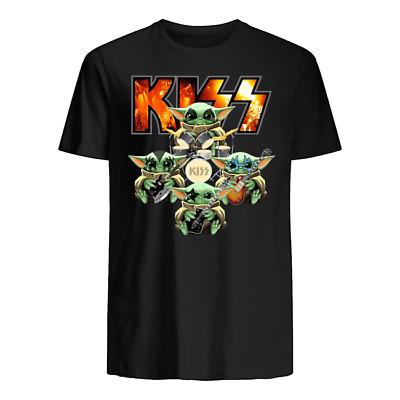 Baby Yoda Kiss band gift fan rock movie star wars shirt ...
