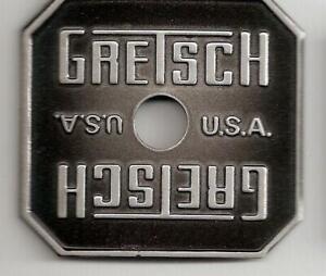 Gretsch-USA-Black-Burst-Broadkaster-Drum-Badge-Name-Plate-Snare-Tom-Bass-NOS