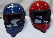 (2) MONARCH Vtg Motocross/Bmx Racing Helmets Bell mini moto style jt 3 star