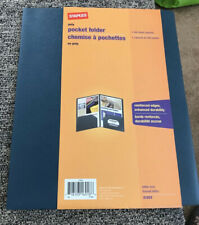 Staples Poly 2 Pocket Folders Dark Blue Each New With Tags 100 Sheet Capacity
