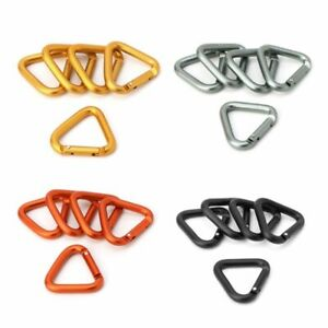 Triangle-Carabiner-Outdoor-Keychain-Camping-Snap-Hiking-Clip-Hook-Kettle-Buckle