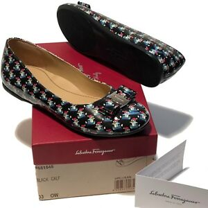 2b8d8842b NEW Ferragamo Girl's Black Mini Vara Varina Leather Loafers 2 33 ...