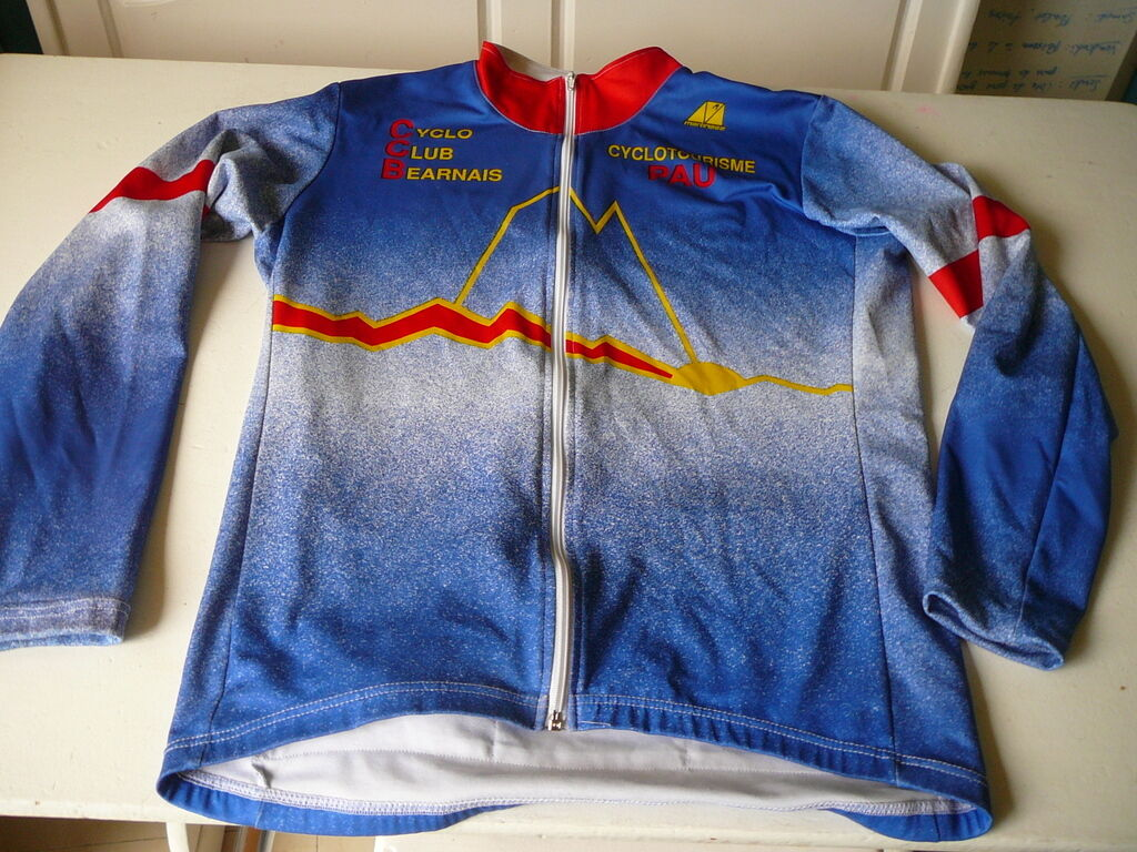 Bike jersey Cyclo Club  bearnais Bicycle touring Pau Martinage T XL vintage  inexpensive