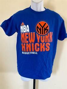 New Minor Flaw new York Knicks Youth Sizes S-L Blue Adidas Shirt