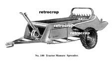 Ih Farmall Mccormick Cub 100 Wheel Driven Manure Spreader Parts Owners Manual
