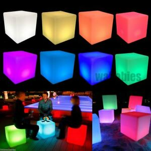 Details About Tail 16 Table Cube Chair Color Changing Led Lighting Decor Stool Night Stan
