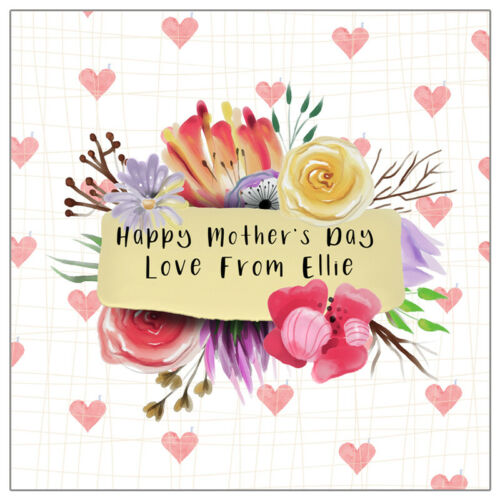 Personalised Mother/'s Day Card Mothers Day Gift Card