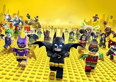 THE LEGO BATMAN MOVIE POSTER FILM A4 A3 ART PRINT CINEMA