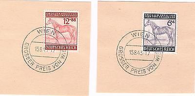 Intellektuell Pferd Pferderennen Grosser Preis Von Wien 1943 Sostempel 857, 858 SorgfäLtige FäRbeprozesse
