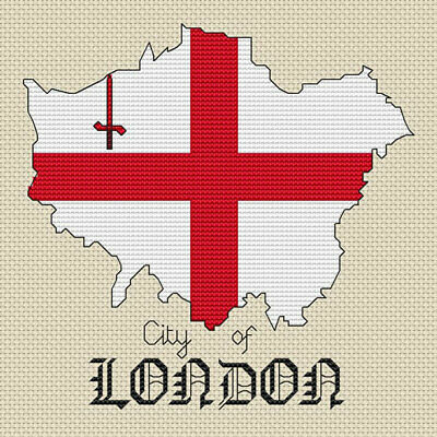 Yorkshire Mappa /& Bandiera Cross Stitch design KIT o grafico
