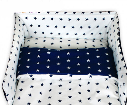 6 Pcs Baby Nursery Bedding Set GIRLS or BOYS Fit to COT 120x60cm 100/% COTTON