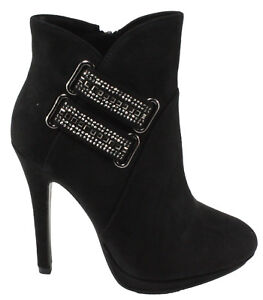 Forever-Women-039-s-Eliza-76-Faux-Suede-Round-Toe-Platform-High-Heel-Ankle-Dress-Boo