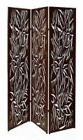 3 Panel Folding Decorative Metal Screens Garden Screens Bi Fold 1.8m - Bush