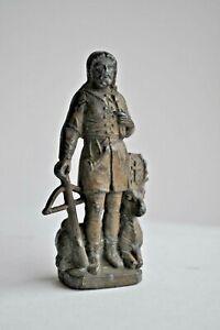 Sculpture-Statuette-ancienne-en-etain-XIXeme