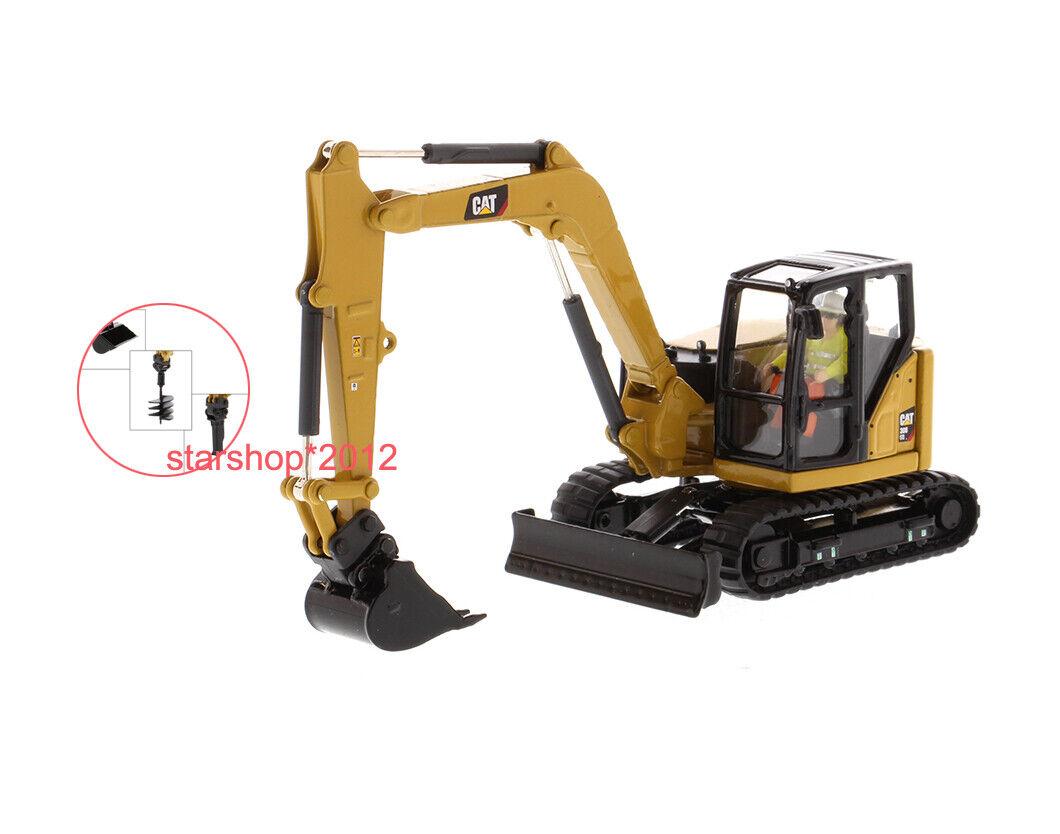 più economico Caterpillar 1 50 Cat 308 CR Mini Hydraulic Excavator Excavator Excavator W lavoro strumentos Diecast Master  negozio all'ingrosso
