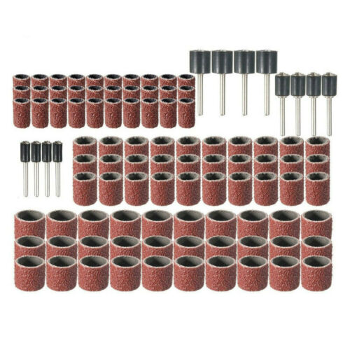 102pcs Sanding Drum Set Rotary Tool Rubber Mandrel Bands Sleeves 1//2 Well CYX