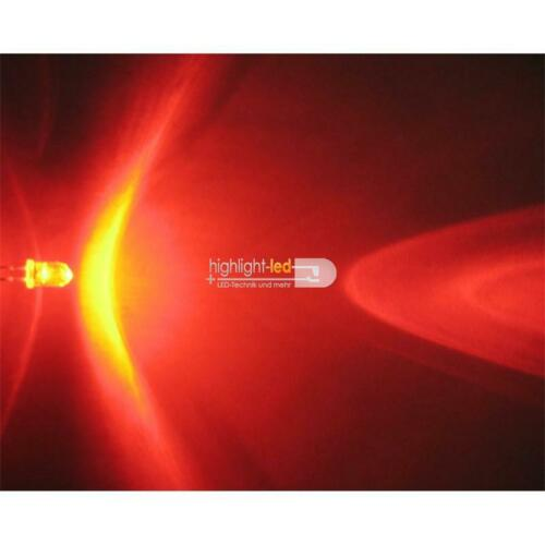 20 LEDs ROT 5mm wasserklar rote LED Leuchtdioden red rouge rosso