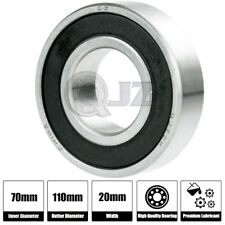 1x 6011-ZZ Ball Bearing 55mm x 90mm x 18mm Double Shielded Rubber Seal NEW