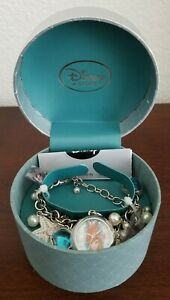 Disney-D23-Expo-EXCLUSIVE-ART-OF-ARIEL-WATCH-Little-Mermaid-Charms-Bracelet-Gems