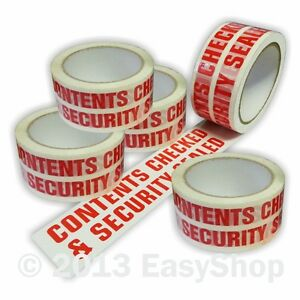 Packaging Tape 48mm x 66m Printed Checked /& Security Sealed