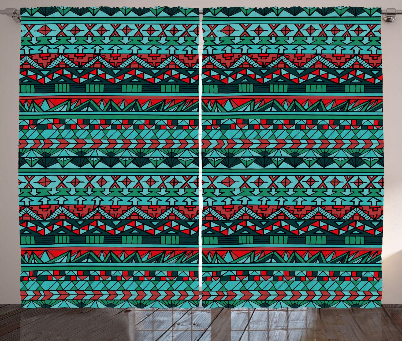 Pastel Farbes Curtains 2 2 2 Panel Set Decoration 5 Größes Window Drapes Ambesonne 81ed58