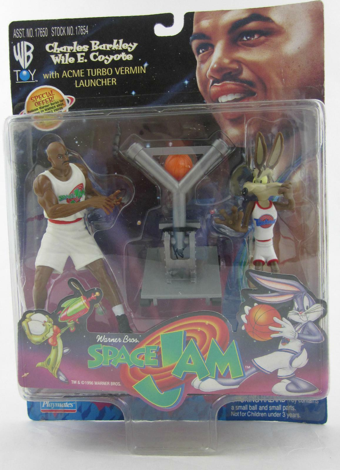JAM Charles Barkley Wile SPACE Coyote Acción Figura Set Acme E. Turbo Lanzador