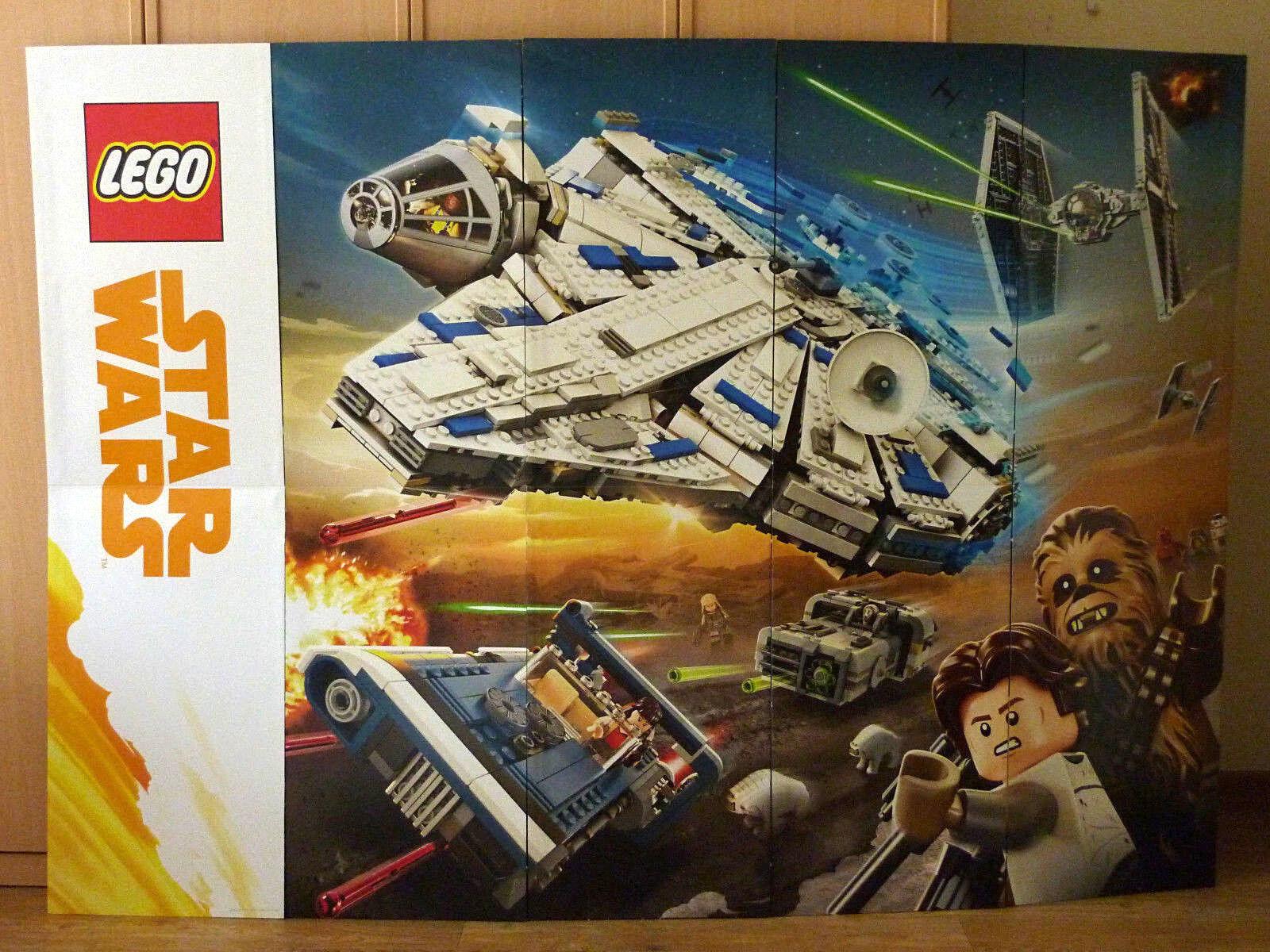 Lego Star Wars Millenium Falcon publicidad cartel al plato adverdeising Banner