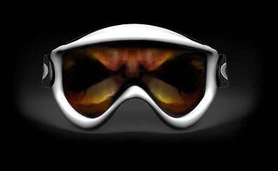 SKULLSKINS MOTOCROSS ATV BMX SNOWBOARD SKI GOGGLE STICKER ALIEN