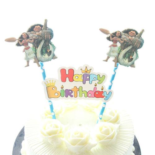 Moana Flag Cake Topper Birthday Party