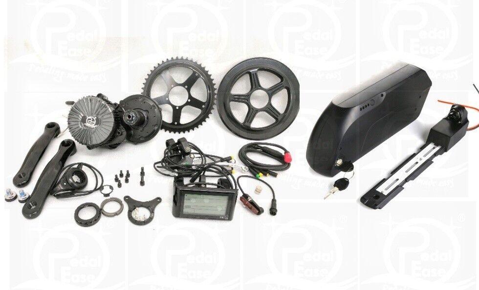 Pedalease 48V 750W BBS02 Bicicleta eléctrica Unidad de mediados de pedalease Kit 30mph y Batería