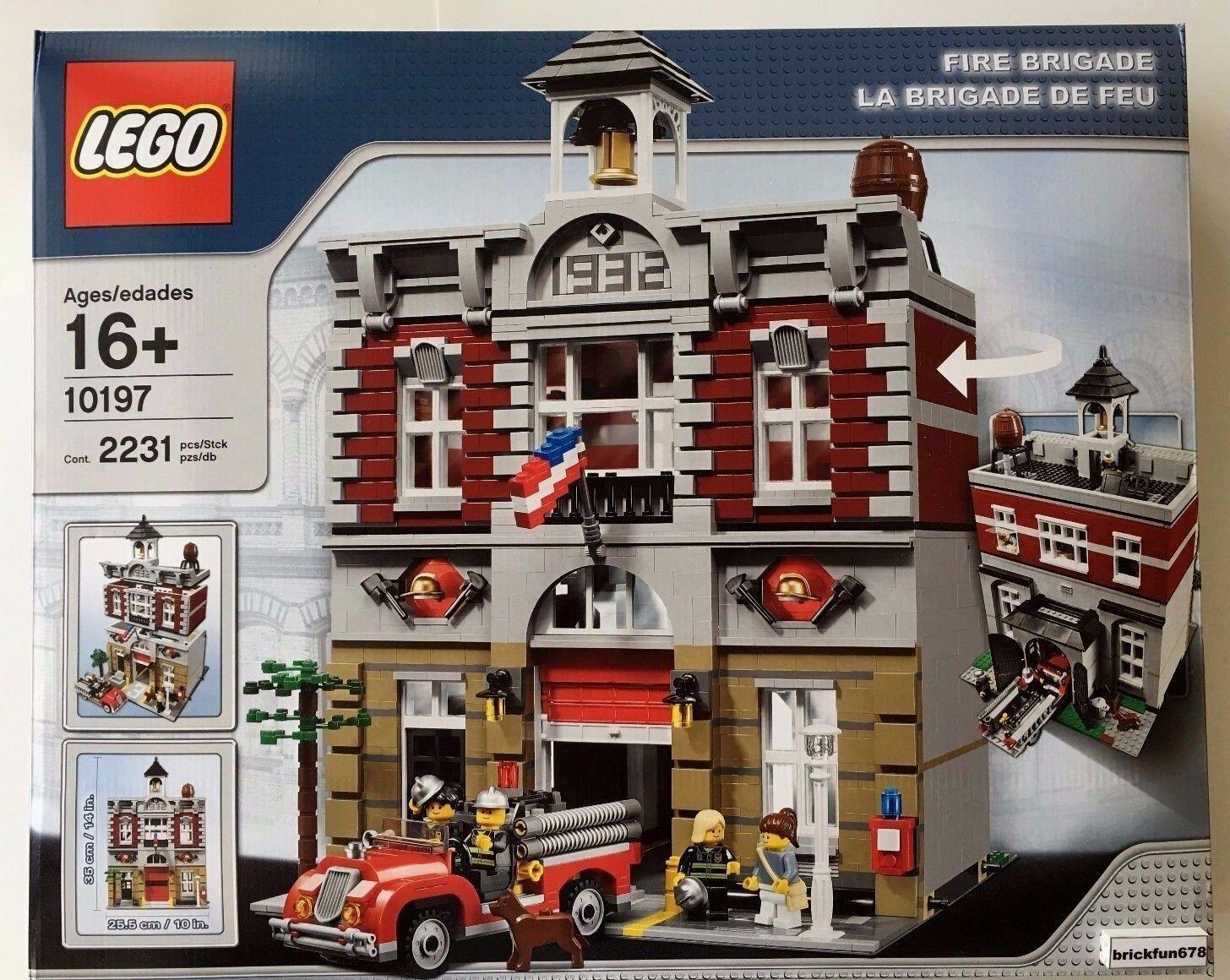 Lego Creator Modular buildings 10197 Fire Brigade Brigade Brigade New In Factory Sealed Box cdf6f5