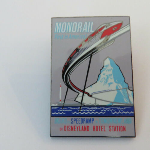 Disney DLR Framed Attraction Poster Monorail Pin