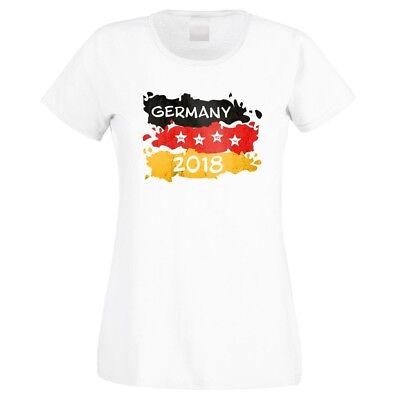 """Iniziativa T-shirt Con Motivo """"germany 2018"""" 100% Cotone Nuovo-mostra Il Titolo Originale Saldi Di Fine Anno"""