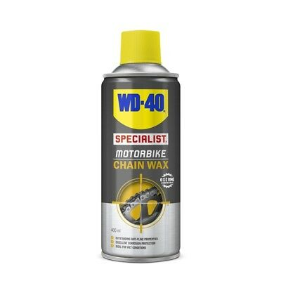 WD-40 44143 Motorbike Chain Wax 400ml Wet Conditions Anti Fling O X Z Rings