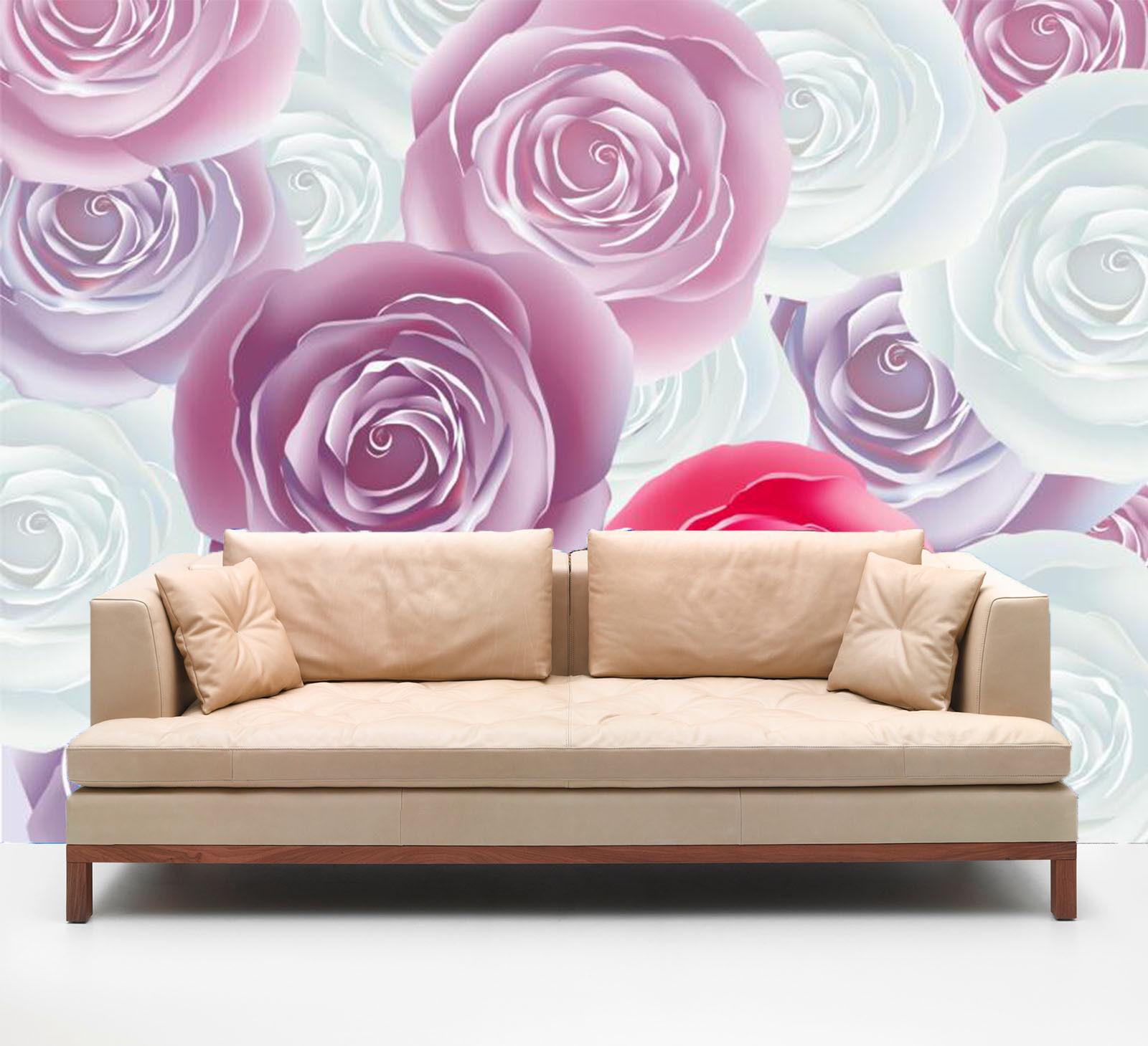 3D Farbeful Round Flowers 642 Wall Paper Wall Print Decal Wall AJ WALLPAPER CA