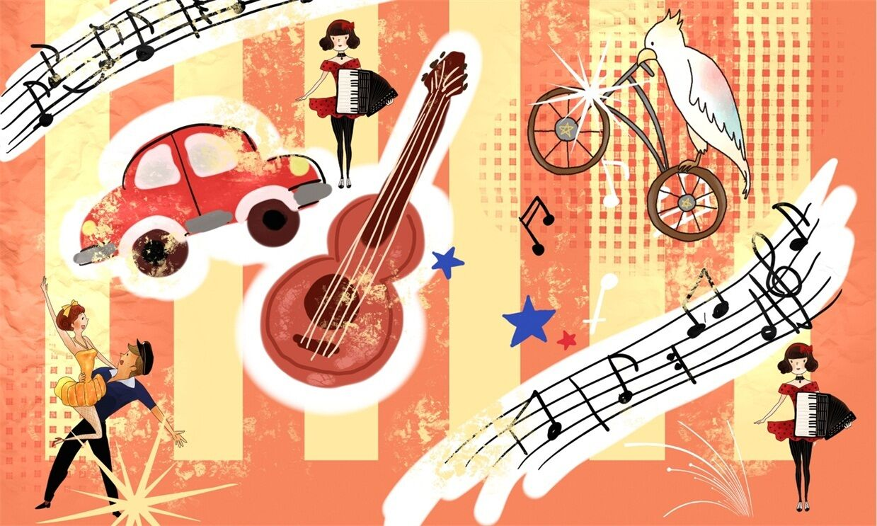 3D Guitare 628 Photo Photo 628 Papier Peint en Autocollant Murale Plafond Chambre Art f624e8