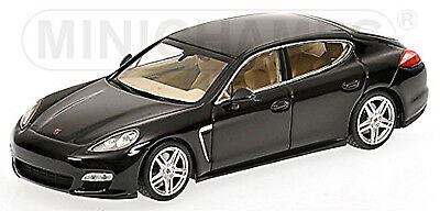 970 Black Black 1:43 Minichamps Exquisite Traditional Embroidery Art Cars Model Building Fashion Style Porsche Panamera Turbo 2009-13 Type