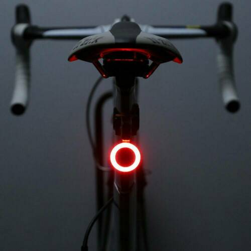 Safety USB Rechargeable Cycling Bicycle Bike Rear Tail Warning LED Lamp Light UK