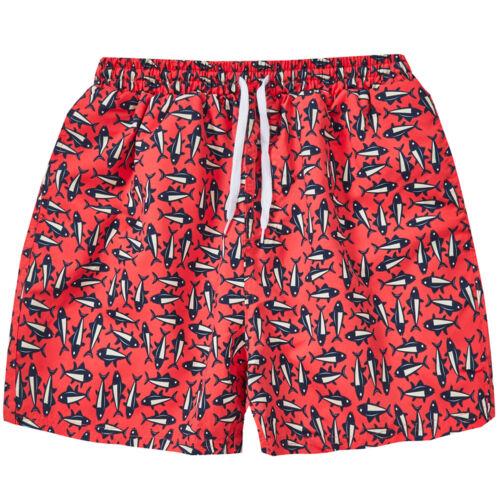 Mens Printed Swim Shorts Swimming Beach Trunks  Mesh Lined Swimwear