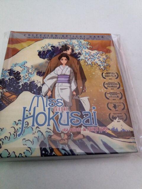 """BLU-RAY """"MISS HOKUSAI"""" BLU-RAY LIBRO + DVD COMO NUEVO KEIICHI HARA"""