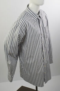 DENVER-HAYES-Men-039-s-Long-Sleeve-Sz-2XL-Shirt-Never-Iron-18-1-2-Vertical-Stripes