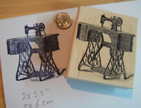 Victorian Sewing Machine 2.5x2.3 Rubber Stamp